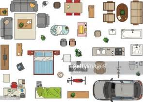 Furniture Clipart For Floor Plans floor plan furniture vector getty images