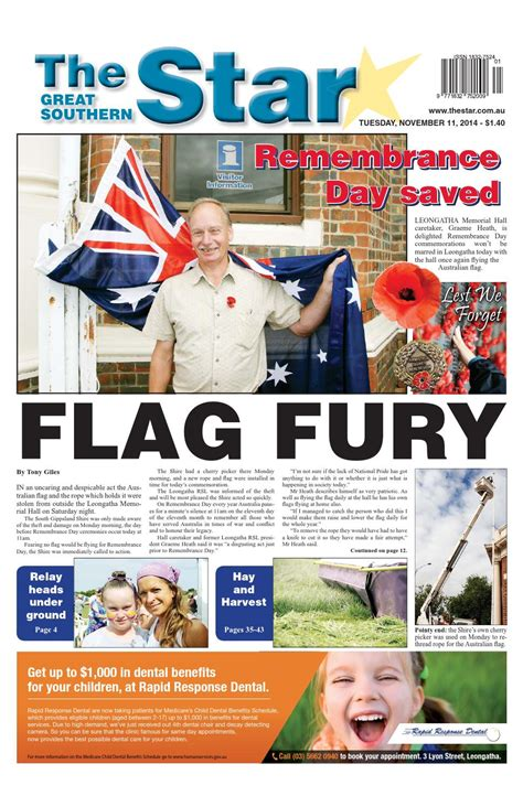 issuu the great southern star april 1 2014 by the the great southern star november 11 2014 by the great