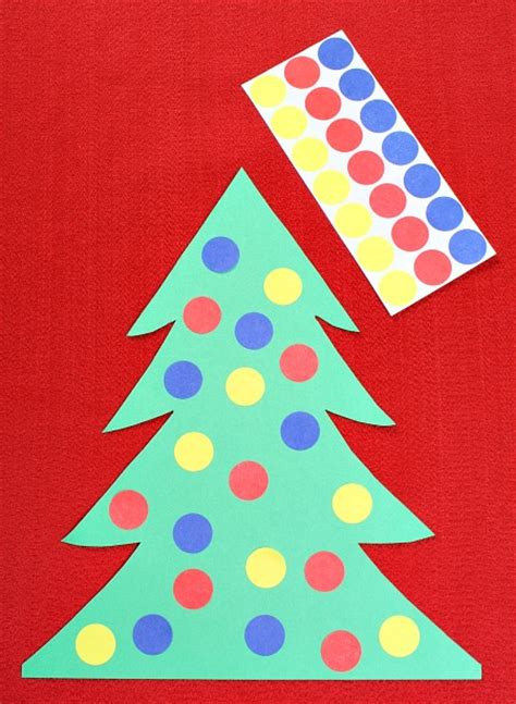 best craft for kindergardener for christmas color matching tree activity