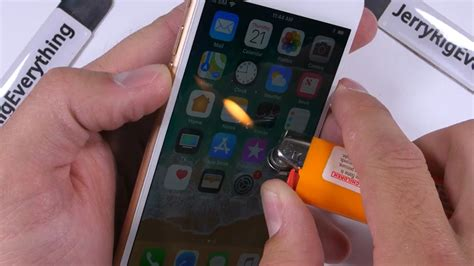 tonton durability test iphone  digores dibakar