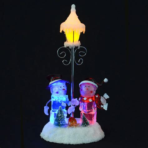 Battery Operated Decorations by With Snowmen Lpost Colour Changing