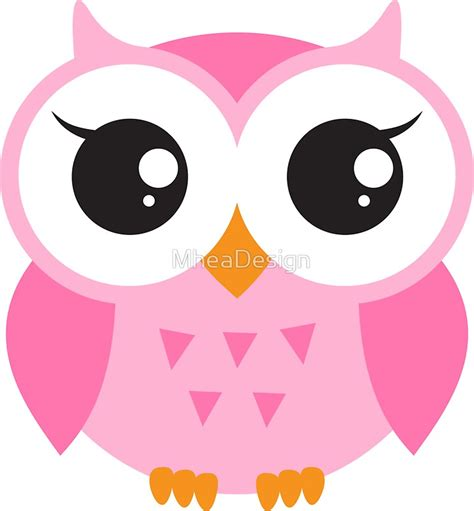 Mini Dress Lucu Real Pic quot pink baby owl sticker quot stickers by mheadesign