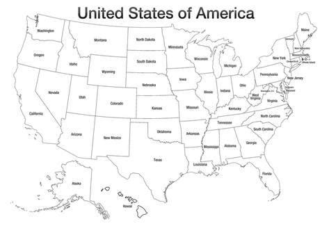 map of usa with states black and white united states of america map usa coloring poster print