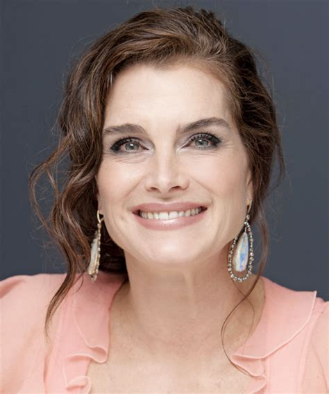 brooke shields formal long curly updo hairstyle
