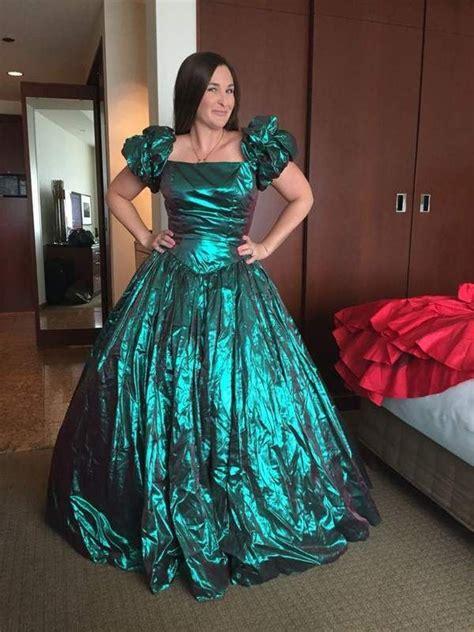 Maxi Hara Pink vintage 80s child metallic prom dress