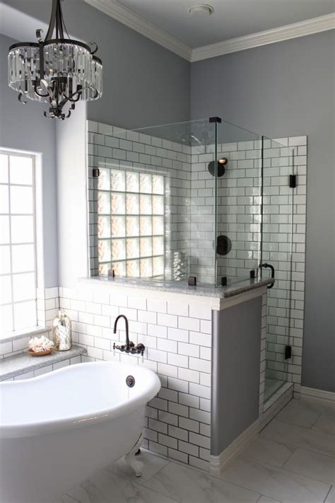 sherwin williams lazy gray bathrooms white subway tiles subway tiles and grout