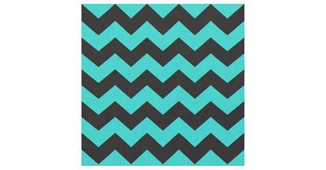zigzag pattern turquoise turquoise and black chevron zigzag pattern fabric zazzle