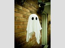 Floating Ghosts DIY Craft for Halloween A-paper Clip Art