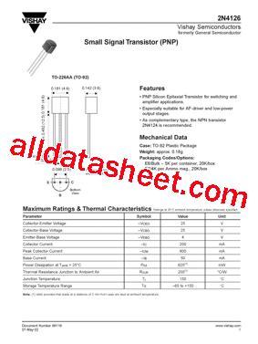 transistor datasheet vishay 28 images bzx384c13 datasheet pdf vishay siliconix bat81s