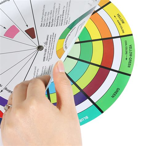 portable pocket color wheel painting mixing guide tool for color selection ebay