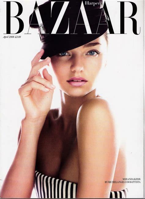 Harpers Bazaar Its Here by Miranda Kerr S Bazaar Magazine Portadas De Lujo