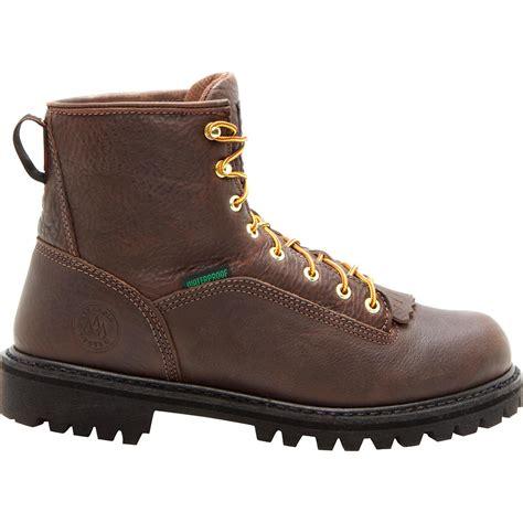 comfortable waterproof work boots georgia boot men s waterproof comfortable logger work boots