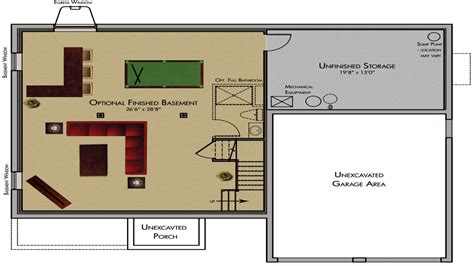 cool basement ideas finished basement floor plans classic