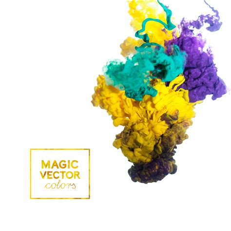 colorful magic colorful ink magic effect background vector 04