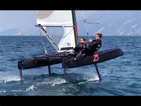 catamaran with hydrofoil fast girls on ifly15 hydrofoil catamaran youtube