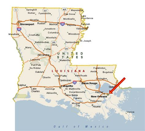 usa map states new orleans map new orleans louisiana images