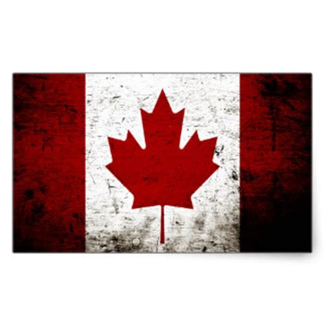 Grunge Made In Canada White Zazzle - custom canadian flag craft supplies for quilting sewing