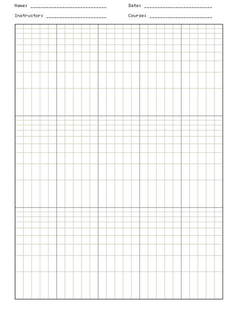 Paper Log - molecular biology semi log graph paper