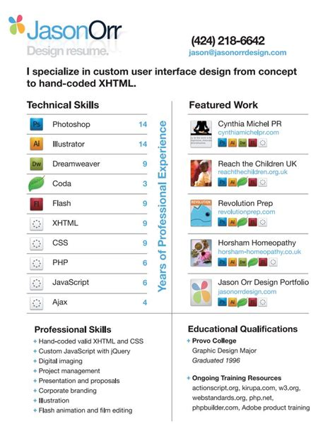 visually appealing resume jason orr infografic resumes