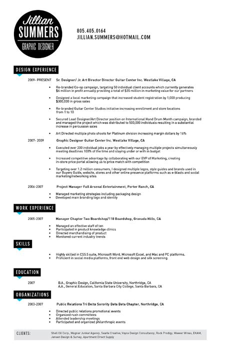 impressive graphic design resume exles 2017 resume