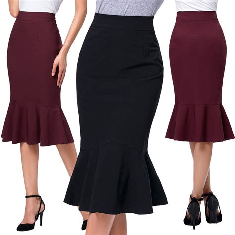 mermaid skirt high waist slim bodycon fit fishtail pencil