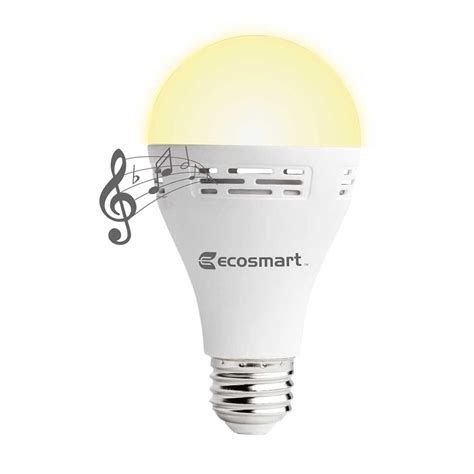Led Light Bulb Speaker Ecosmart 40 Watt Equivalent A21 Non Dimmable Smart Bluetooth Speaker Led Light Bulb Soft White
