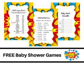 free superhero theme baby shower free printable baby shower games baby word scramble baby
