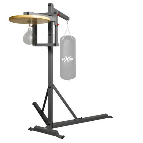 xmark commercial heavy bag stand with speed bag