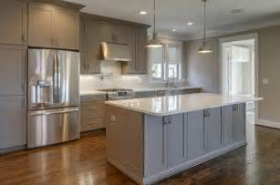 gray kitchen cabinets with white countertops kitchen and