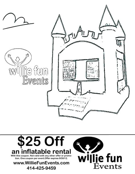 coloring page bounce house book coloring and colors on pinterest bounce house