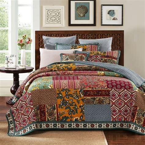 dada bedding elegance floral paisley bohemian patchwork