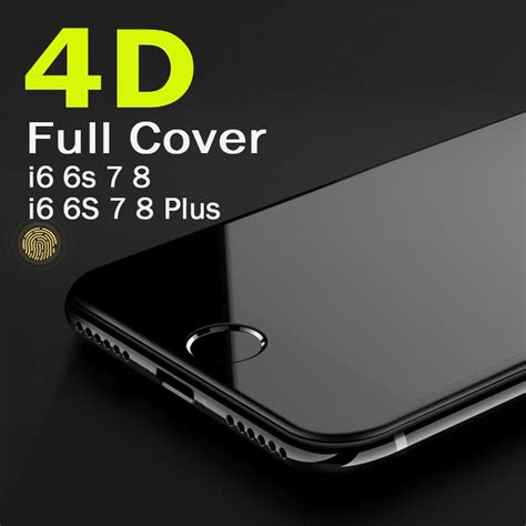 Tempred Glass 4d Iphone6plus real 4d edge cover explosion proof tempered glass for iphone 6 6 plus glass screen