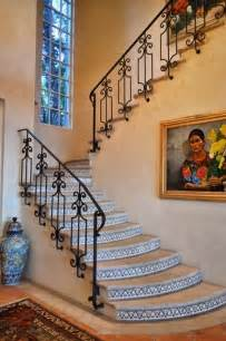 Banister In Spanish Beautiful Spanish Style Wrought Iron Railing On Stone