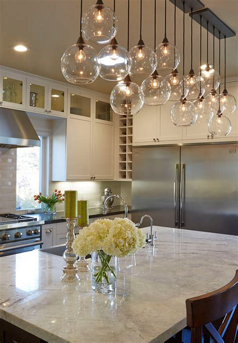 light fixtures over kitchen island fresh flower decorations to complement your home style