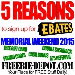 Free Gift Card For Signing Up - 5 reasons to sign up for ebates by 5 25 15 free gift card free discounts