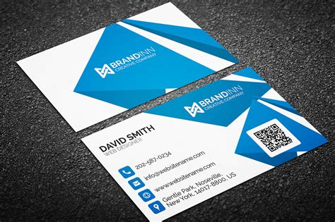 business card template with mascot creative corporate business card 05 graphic