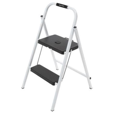 Home Depot Step Stool by Easy Reach By Gorilla Ladders 2 Step Steel Mini Step Stool Ladder With 200 Lb Load