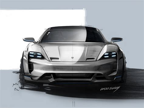 Porsche Mission E Sketches by Porsche Mission E Cross Turismo Concept 2018 Picture