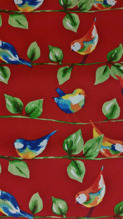 red home decor fabric home decor fabric feathered friends berry red solarium