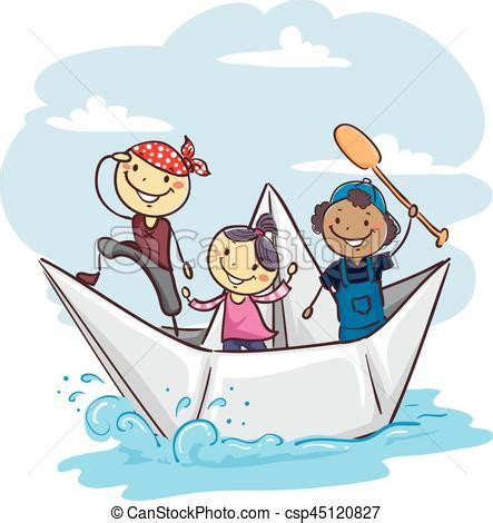 boat tour clipart papier kinder stock boot vektor kinder abbildung