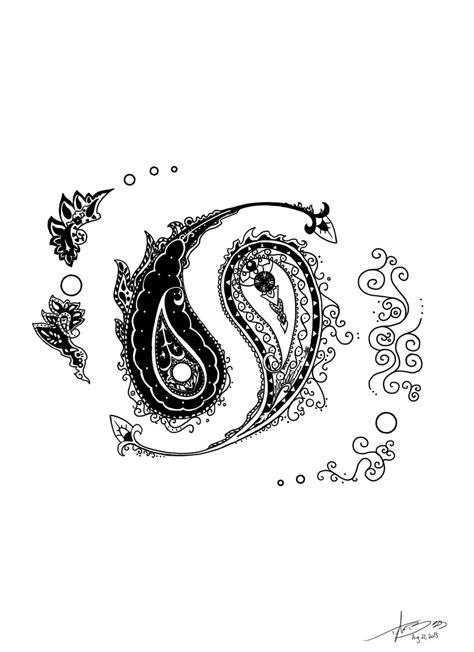 paisley yin yang by mbegg on deviantart