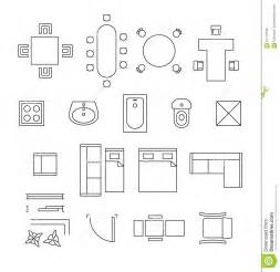 floor plan symbols uk furniture linear vector symbols floor plan icons stock