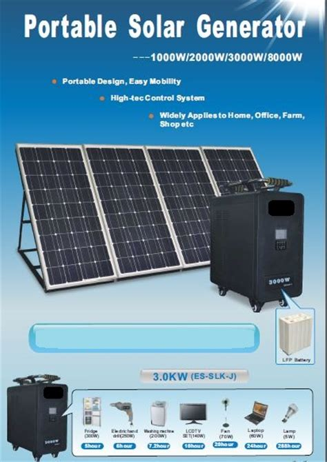 portable solar power generator technology market nigeria