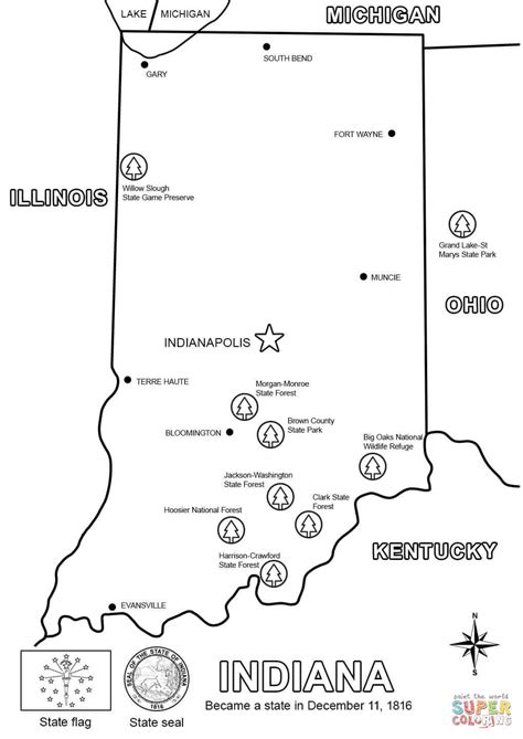 indiana coloring page indiana map coloring page free printable coloring pages