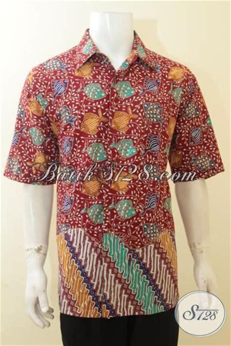 Batik Hem Ikan shop batik jual baju batik fashion warna merah hem batik parang ikan ukuran jumbo
