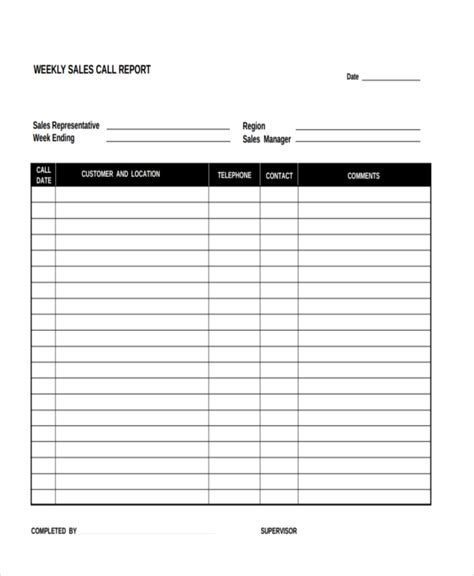 sales rep visit report template 15 sales report form templates