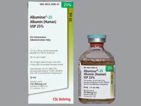 Albumin Behring albuminar 25 intravenous information on uses side effects interactions and user