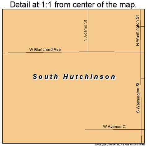 Hutchinson Ks County South Hutchinson Kansas Map 2066750