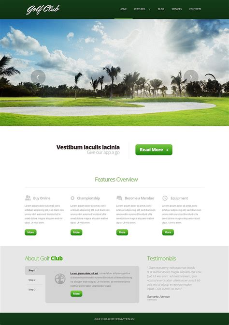 Golf Responsive Joomla Template Web Design Templates Website Templates Download Golf Golf Website Template Free