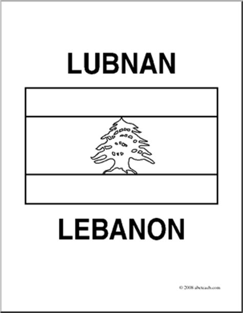 clip art flags lebanon coloring page abcteach